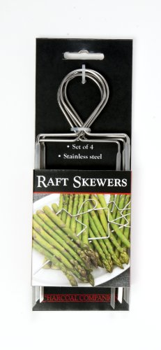 Charcoal Companion Stainless Veggie Raft Skewers / Set 4 – CC5135