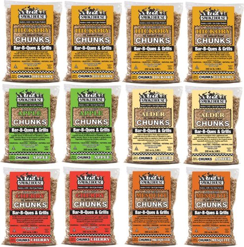 Smokehouse Products All Natural Flavored Wood Smoking Chunks Assorted 12 Pack
