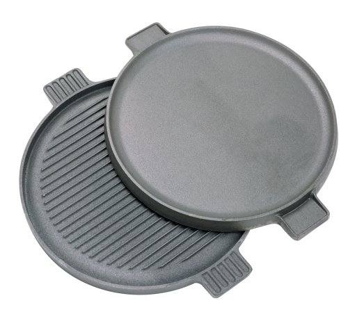 Bayou Classic 7414 14″ Round Cast Iron Reversible Griddle