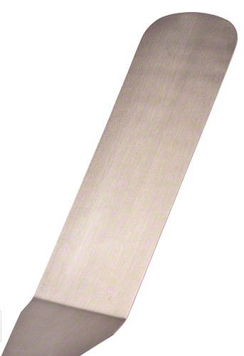 Update International WTSD-10 Stainless Steel Solid Flexible Turner with Wood Handle, 14-1/2-Inch