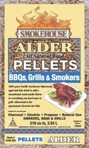Smokehouse Products 9780-020-0000 5-Pound Bag All Natural Alder Flavored Wood Pellets, Bulk