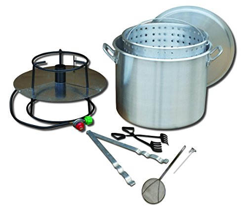 King Kooker Model #80BP Portable Propane Outdoor Boiling Package with 80-Quart Aluminum Pot