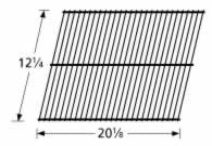 Music City Metals 93001 Steel Wire Rock Grate Replacement for Select Gas Grill Models by Arkla, Broilmaster and Others