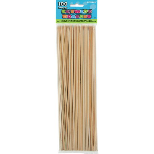 Unique 100 Count Bamboo Skewers
