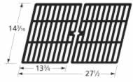 Music City Metals 63082 Matte Cast Iron Cooking Grid Replacement for Select Gas Grill Models by Charbroil, Kenmore and Others, Set of 2