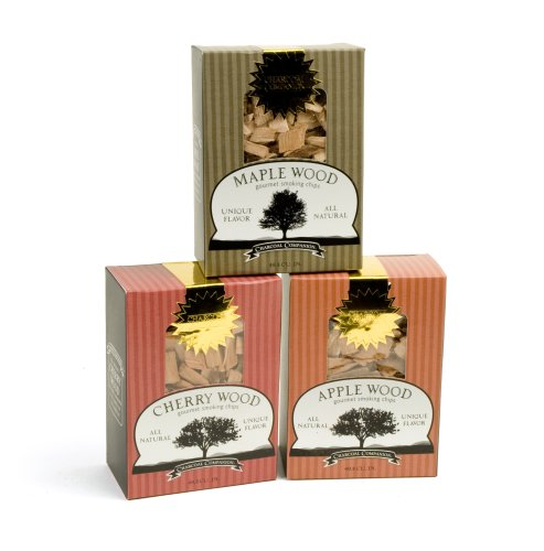 Charcoal Companion Maple, Cherry and Apple Wood Chips Sampler Pack