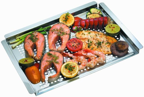 Flat Stainless Steel Grill Topper