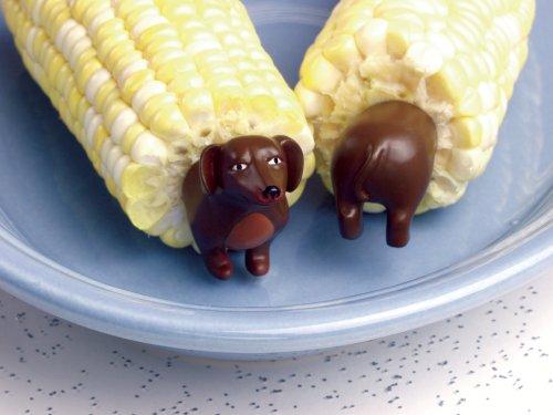 Charcoal Companion Wiener Dog Corn Holders (8 Pieces)-CC5009