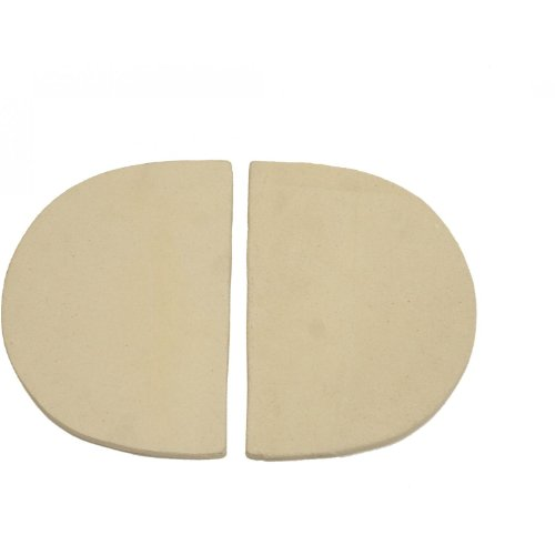 Primo 324 Ceramic Heat Reflector Plates for Primo Oval XL Grill, 2 per Box