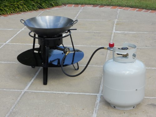 King Kooker 10560HC 2 in 1 Portable Propane Outdoor Cooker Package