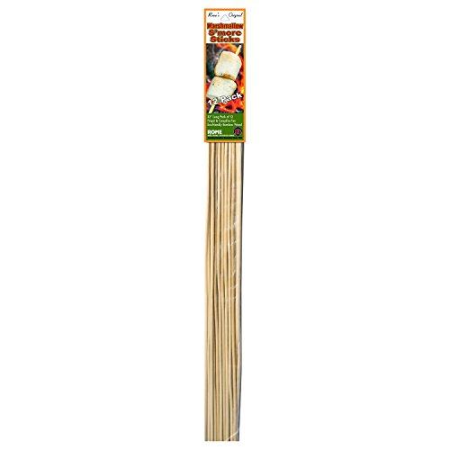 Rome Industries Rome's MS-12 Marshmallow Sticks, 1-Inch, Beige, Pack of 12