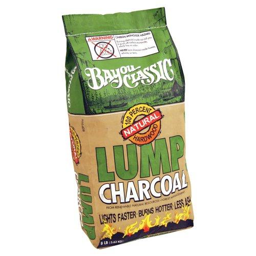 Bayou Classic 8-Pound Bag Natural Lump Charcoal