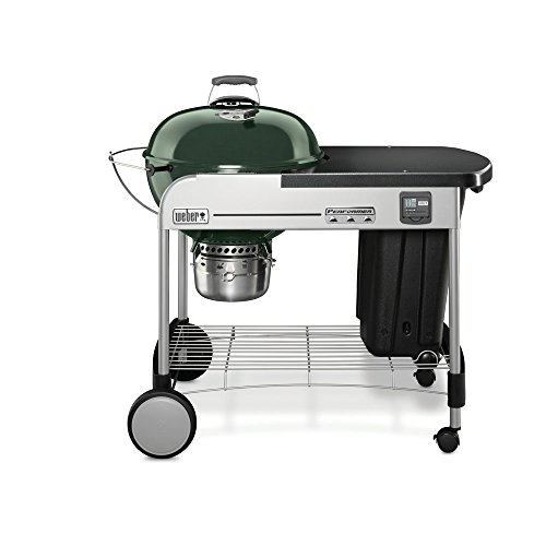 Weber 15407001 Performer Premium Charcoal Grill, 22-Inch, Green