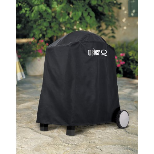 Weber 6552 Premium Grill Cover, Fits Weber Q, Q-200, and Q-220 with Cart