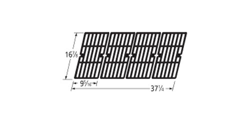 Music City Metals 68764 Gloss Cast Iron Cooking Grid Replacement for Gas Grill Model Charbroil 463230710, Set of 4