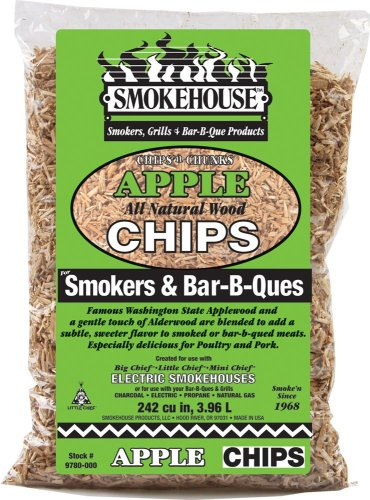 Smokehouse Products All Natural Flavored Wood Smoking Chips- Apple