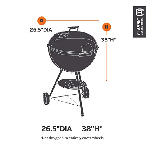 Classic Accessories 73422 Veranda Kettle-Style Barbecue Grill Cover