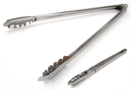 21st Century B63A2 Chrome BBQ/Salad Tongs, 15-Inch