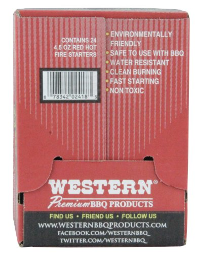 WESTERN 02418 24-Pack Red Hot Fire Starters