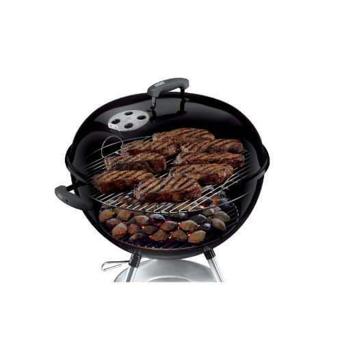 Weber 741001 Silver One-Touch 22-Inch Kettle Grill, Black