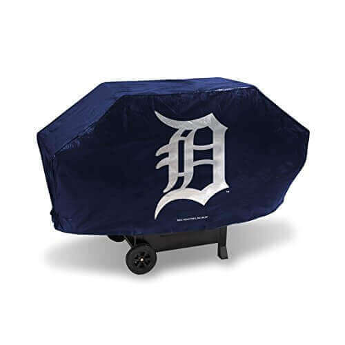 MLB Detroit Tigers Deluxe Grill Cover, Black, 68 x 21 x 35″