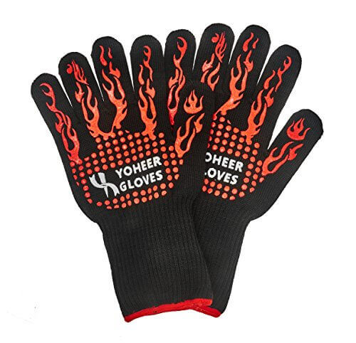 Yoheer 932F Oven Mitts,Cut & Heat Resistant Gloves,Chef Baking Supplies,Grill Accessories,good for Barbecue(BBQ),100% Cotton Lining, Stripes for Ultimate Grip, Versatile for Kitchen