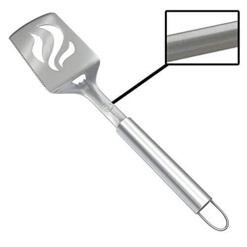 Barbecue Spatula With Bottle Opener – HEAVY DUTY 20% THICKER STAINLESS STEEL – Wide Metal Grilling Turner for Burgers Steak & Fish – Large BBQ Grill Handle – Best Cooking Utensils & Accessories