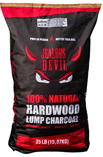 Jealous Devil 100% Natural Quebracho Blanco Hardwood Lump Charcoal, Restaurant Quality, 35 lb