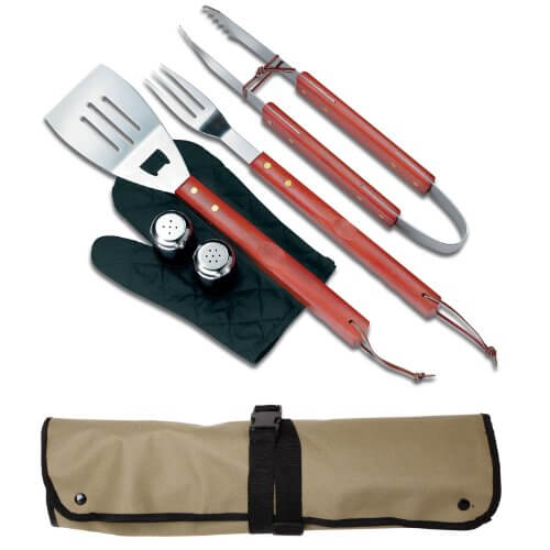 Chefs Kitchen 82-4308 7-Piece Outdoor BBQ Apron and Utensil Set