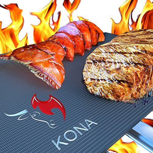 Kona Best BBQ Grill Mat(TM) – Heavy Duty Non-Stick 16 x 13 Inch (Set of 2)