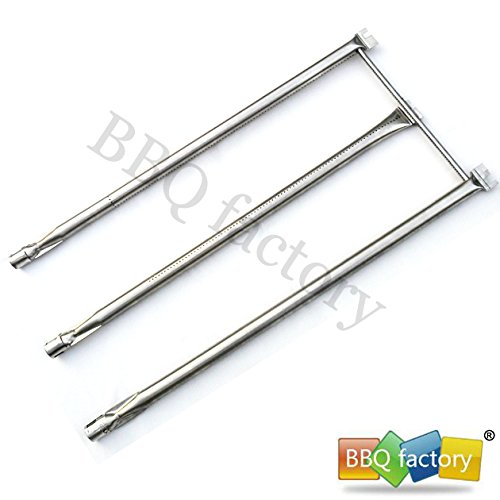 bbq factory® Replacement Stainless Steel Burner JBX08 Select Gas Grill Models By Weber Genesis Series, Weber Part, Lowes , and Others (28 1/8″ x 12 3/4″)