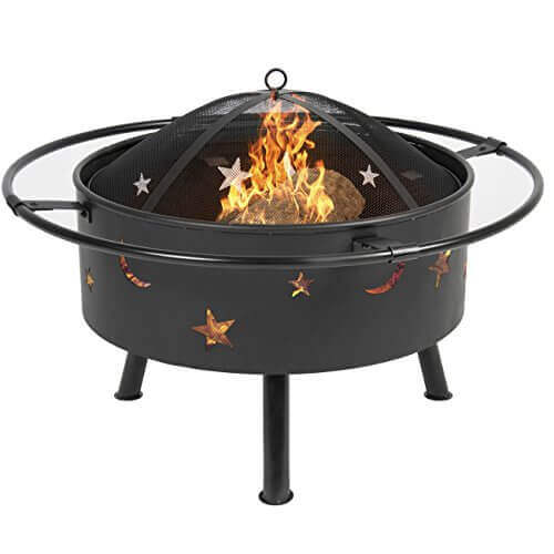 Best Choice Products 30″ Fire Pit cooking Grill FireBowl Outdoor Patio Fireplace Garden Stove Firepit