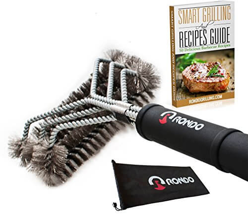 RONDO 3 in 1 Stainless Steel Bristles BBQ Grill Brush
