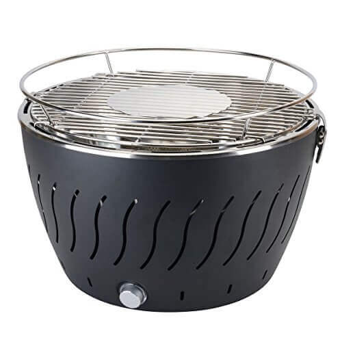 Aobosi Portable Smokeless Charcoal Barbecue Grill Stainless Steel Non-Stick Surface Battery Operated Outdoor/Indoor