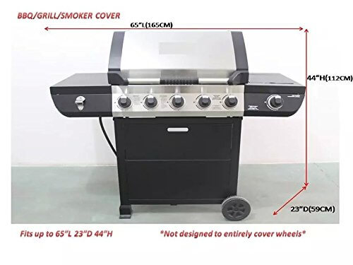 Icover 60 65 Inch Heavy Duty Water Proof Patio Outdoor Black Bbq Barbe