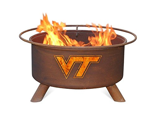 Virginia Tech VT Hokies Portable Steel Fire Pit Grill