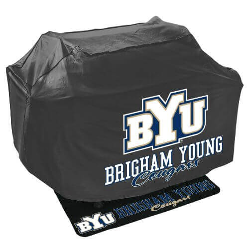 Mr. Bar B Q NCAA Grill Cover and Grill Mat Set, Brigham Young University Cougars