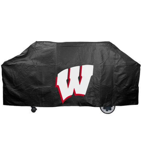 NCAA Wisconsin Badgers Black Grill Cover
