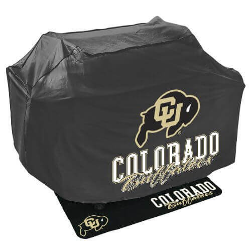 Mr. Bar B Q NCAA Grill Cover and Grill Mat Set, University of Colorado Buffaloes