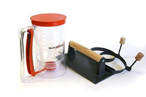 Grill and Griddle Breakfast Kit (Batter dispenser, Egg/Pancake Rings, Bacon Press) BLACKSTONE