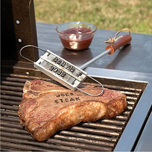 """Changeable 55 Letters Barbecue ID Branding Iron Tools"" shopping"