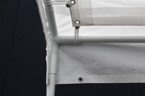 King Canopy C81013PC 10-Feet by 13-Feet Universal Canopy 6-Leg Canopy White