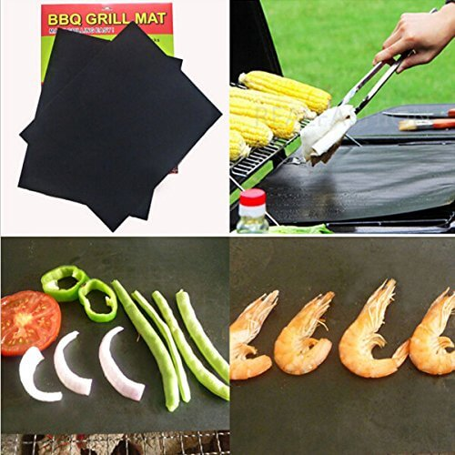 """BBQ Grill Mats Ptfe Non-Stick Surface Hot Plate Mat"" shopping"