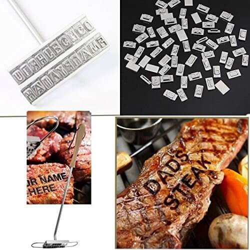 """""""Changeable 55 Letters Barbecue ID Branding Iron Tools"""" shopping"""