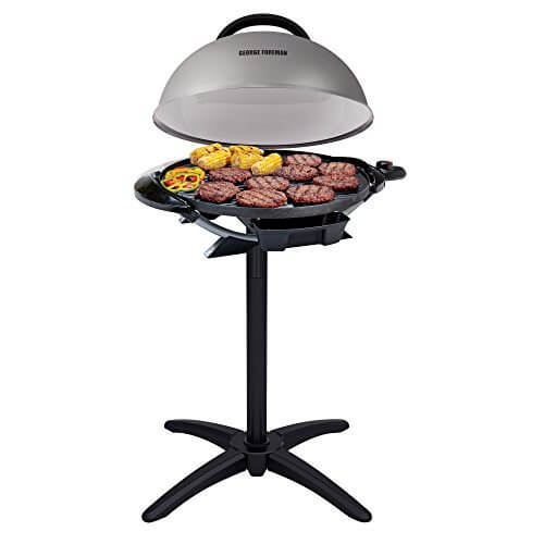 George Foreman GFO240S Indoor/Outdoor Electric Grill, Silver