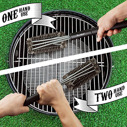 Buy BBQ Silicone Gloves / Cooking / Oven / Kitchen + Meat Claw / Shredder Get 18″ BBQ Cleaning Brush – All in a gift Box. N.1 Smoker Accessories set