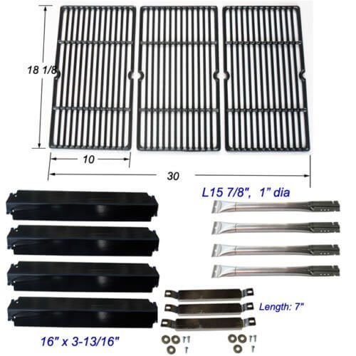 Charbroil Commercial 463268107 Burner,Carryover Tubes, Heat Plates,Grill Grates