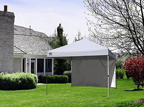 Quik Shade Commercial C100 10'x10′ Instant Canopy with Wall Panel – White