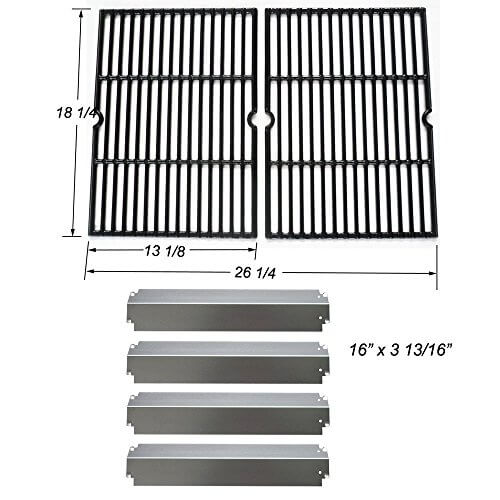 Replacement grill repair Charbroil Rebuild Kit Cooking Grill Grates and SS Heat Plates
