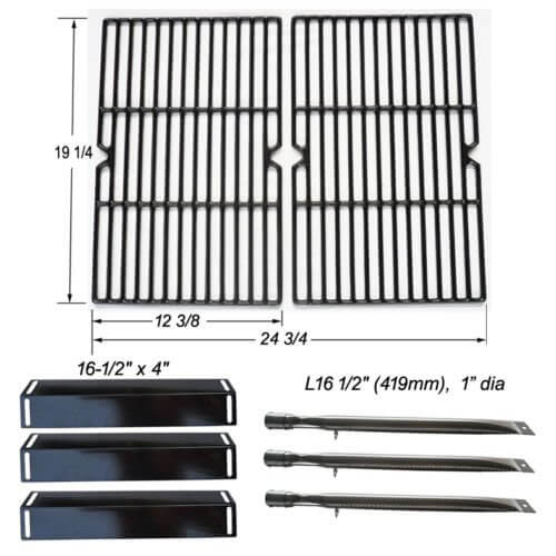 BBQ Replacement Parts Grillware GGPL-2100 Heat Plates, Grill Grates, Grill Burners